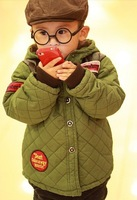 Baby winter thickening coat 2013child cotton-padded jacket boys fashion jacket kids clothes