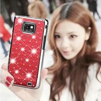 Fashion Gypsophila Diamond Cover Bling Case for Samsung Galaxy S2 i9100