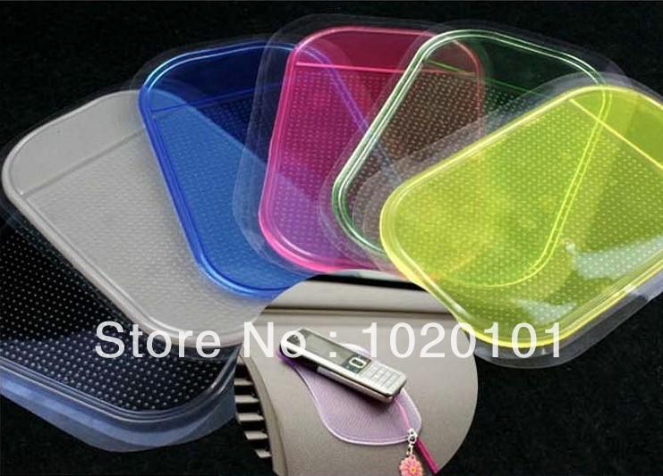 Free shipping 10pcs/lot Wholesale Magic Non slip sticky pad anti slip mat Car Anti slip Pad Washable Durable Use(China (Mainland))