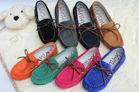 Candy color genuine leather loafers gommini loafer shoe flat boat shoes driving shoes ladle shoes