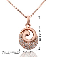 New Design 18K Gold Plated Necklace,Fashion Jewelry Necklace,18K Rhinestone Zircon Austrian Crystal Necklace SMTPN610