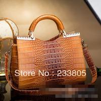 Women genuine leather handbag channel bags women Crocodile designer handbags high quality Single shoulder bag
