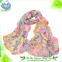 Free Shipping 2013 Popular Style Women Flower Printed Chiffon Scarf /Shawl / Wrap / Pashmina