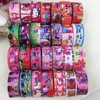 """Free shipping total 40 yards mixed 8 items 7/8""""(22MM) david ribbon  grosgrain ribbon 10 yards ribbon set"""