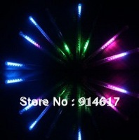 110V-240V input 50CM 8 Tubes 256 LED Mini Snowfall Meteor LED Light led meteor tubes Chritmas light Garden Light Outdoor
