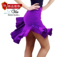 Latin dance short skirt long design double drawstring classic Latin dance skirt Latin dance skirt