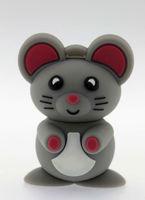 Cheapehest Original Gray Mouse Model USB Memory Stick Flash Pen Drive 1-8GB Ub56 Pen Usb Flash Drive Free Shipping