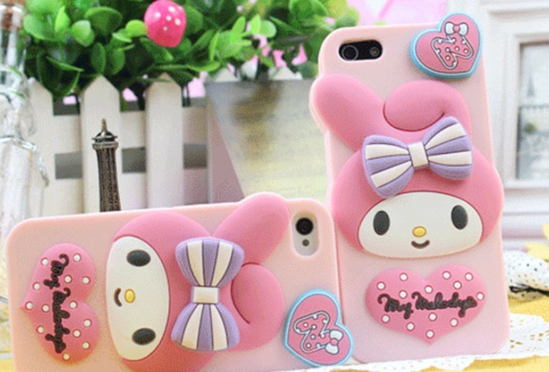 New Arrival Cute 3D Rabbit Silicone Case for iPhone4 4S Pink Cat Cartoon Girl Covers with Retail Package free shipping(China (Mainland))