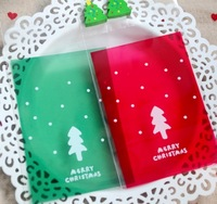Christmas red, green and gold crackers gift bag,West/cake/biscuit/cookie/pastry bakery Candy packaging bag   7.4 * 10 cm 300pcs