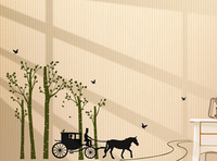 Free shipping coach lined removable wall stickers children's room