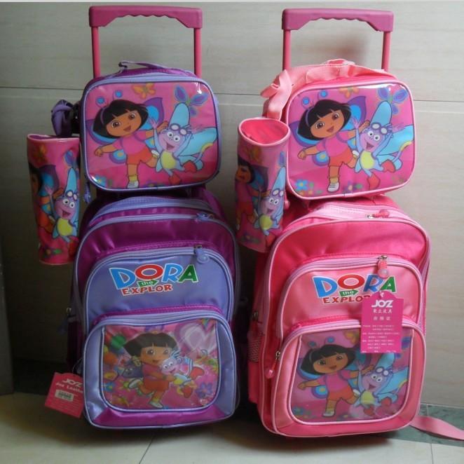 Dora l'exploratrice mochilas enfants cartoon enfants chariot sacs d ...