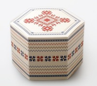 NEW Christmas gingerbread snowflakes hexagonal box candy apple boxes West Point 10pcs wholesale