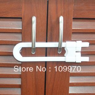U safety lock kitchen cabinet door lock baby safety lock child protection furniture safety lock 10pcs free shippment(China (Mainland))