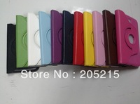 200pcs/lot 360 Rotary Leather Case For GALAXY TAB 3 7.0 P3200/T210  PU Rotate Protective Skin Pouch Stand