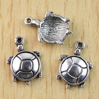 Free Shipping Cute Tibetan Silver Turtle Charms Findings 22*15mm 40pcs/Lot Wholesale