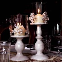Wrought iron candle table fashion classical vintage decoration carved romantic quality home accessories(BIG SIZE)