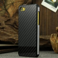 Luxury SURPLUS WIND carbon fiber Metal aluminum case for Apple iphone 5c retail box free shipping