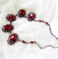 Min. order is $9 (can mix style) Bohemia necklace vintage short necklace design fashion excellent ruby necklace
