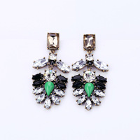 NEW 2013 Fsahion Brand Vintage Jewelry Synthetic Diamonds Stud Earrings for Women E050,Free shipping