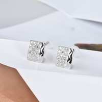 micro  genuine 925 sterling silver Earrings 100% pure 925 factory wholesale price 1 pair dropshipping GNE0632