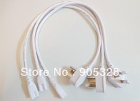 Freeshipping 150cm length light cable accessories electrical plug terminal adapter socket LED lighting fitting T5 tube connector