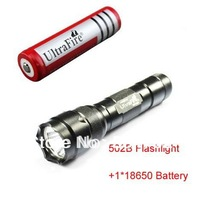 Ultrafire 502B CREE XML T6 1000 Lumens 5-Mode Led Flashlight(1*18650 Battery)+Free Shipping