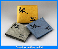 Promotion!!! Fashion men casual cowhide Purse male genuine leather wallet ,3 style,free shipping