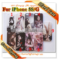20pcs/lot Sexy Girl Covers for iPhone 5S Case for Apple 5G Eastern Lady Phone Skin