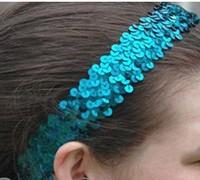 Sequins Stretchy Headband Cheerleader Team Uniform Girl Dress up Party Hair Band