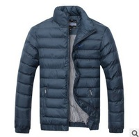 new 2013 fashionFashion sports leisure pure color collar up to keep warm coat, winter jacket,sport jacket,men's jacket