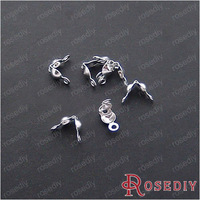 (2598)Connectors Clasps Crimp Beads for Jewelry Chain Necklace Wire hole:1.1MM Silver Iron Wire Covered Clasps 100PCS