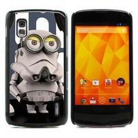 For Nexus 4 Case, Despicable Me Minion Rush Hard Case Skin Protection Cover for LG Google Nexus 4 E960 (E960-1527)