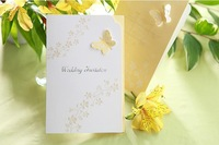 Butterfly Invitations Wedding Tri-folded Cards Elegant Marriage Party Invites Supplies Printable and Customizable 50 Sets