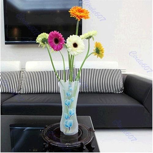 10pcs/lot incassable en plastique réutilisable pliable fleur maisondécor dia11cm livraison gratuite