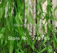 100pcs artificial willow twig leaves vine wicker vine Willow leaf vine plants home garden supermarket decoration