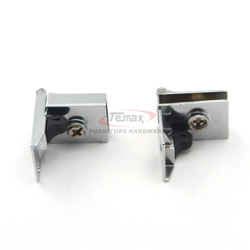1 Pair Glass Cabinet Door Metal Hinge Zinc Alloy Glass Furniture Hinge(China (Mainland))