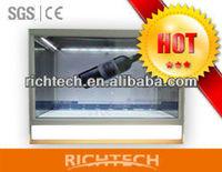 fast shipping of 46 inch custom shape aluminium showcase for products presentation