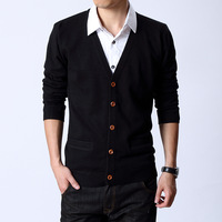Septwolves men's clothing autumn 2013 male thin sweater male V-neck cardigan sweater