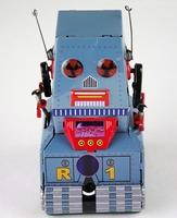 Retro Handmade Tin Clockwork Collectibles Toy-3.5'' #MS371 Tank Robot dh325