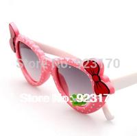 2014 Free Shipping UV400 Colorful Bow Fashion Anti-uv Decoration Children's Sunglasses