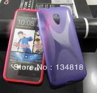 Wholesale Alibaba express  TPU Wave Gel Case Cover For   HTC Desire 700  DHL free shipping