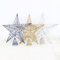 Christmas tree decoration christmas tree going 20cm metal wiredrawing powder tree top star 3