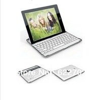 free shipping Aluminum Alloy bluetooth keyboard for ipad 3 ipad 2 white black color