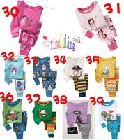 Autumn-Summer Long Sleeve Kids Pajamas Sets Baby clothing boys pijama girls pyjamas Kitty Cars Cat Princess Design Retail !!
