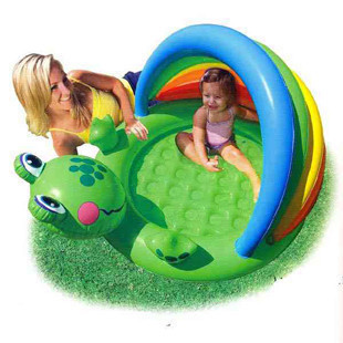 Intex frog baby swimming pool inflatable pool kid's piscina,114*99*69cm include repair patchinclude repair patch,free shipping(China (Mainland))