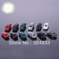 100pc Wholesale - 1:200 scale model plastic car for Landscape Train Model Scale architectural scenery