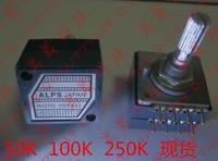 Japan origin ALPS 27 type Dual 250K potentiometer---circle handle