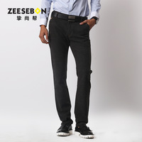2013 slim straight male long casual trousers elastic 33473