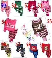 2014 Long Sleeve  Kids Pajamas Sets Baby clothing boys pijama girls pyjamas Retail Children Clothing Sets Many design available!