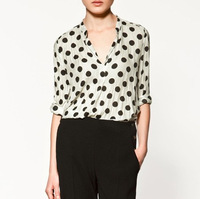 New Arrivals Fashion Polka Dot Women's Shirt S M L Free Shipping